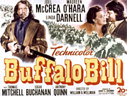 Mccrea Framed Prints - Buffalo Bill, Joel Mccrea, Maureen Framed Print by Everett