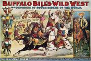 1899 Framed Prints - Buffalo Bill: Poster, 1899 Framed Print by Granger
