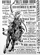Buffalo Bill Cody Posters - Buffalo Bills Rough Riders Review, Wild Poster by Everett
