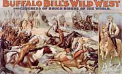 Buffalo Bill Cody Posters - Buffalo Bills Wild West And Congress Poster by Everett
