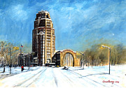 City Hall Paintings - Buffalo Central Terminal by John Countway