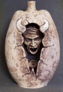 Native American Ceramics - Buffalo Chant by Gaylon Dingler