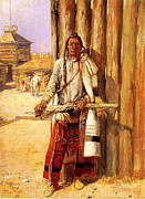 Chief Paintings - Buffalo Coat by Charles Russell by Pg Reproductions