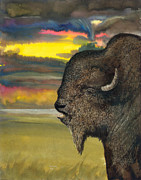 Then Drawings - Buffalo by Don Winsor