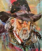 Old Man With Beard Prints - Buffalo Hunter Print by Wendy Hill