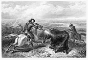Destiny Framed Prints - Buffalo Hunting, 1870 Framed Print by Granger