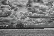 Clouds Photographs Originals - Buffalo Lighthouse 8111 by Guy Whiteley