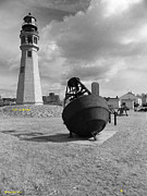 1833 Photos - Buffalo Lighthouse and Bouy by Joseph Rennie