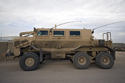 Iraq Art - Buffalo Mine Protected Vehicle by Terry Moore