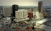 M Court Prints - Buffalo New York Aerial View Print by Rose Santuci-Sofranko