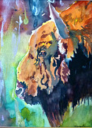 Great Western Painting Originals - Buffalo by P Maure Bausch