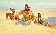 Great Plains Painting Posters - Buffalo Runners Poster by Pg Reproductions
