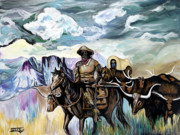 Soldier Paintings - Buffalo Soldier by Timothy Giles
