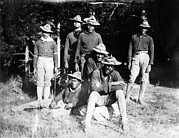 1890s Prints - Buffalo Soldiers Of The 25th Infantry Print by Everett