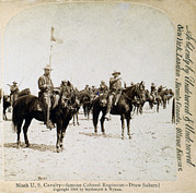 Cavalry Uniform Posters - Buffalo Soldiers Of The Ninth U.s Poster by Everett