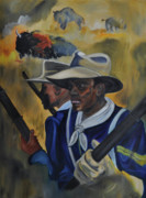 Rifle Painting Originals - Buffalo Soliders by Mitchell Todd