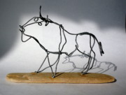 Cave Sculptures - Buffalo Wire Sculpture by Bud Bullivant