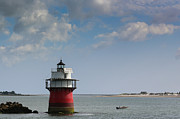 Plymouth Harbor Prints - Bug Light in Plymouth MA Print by Lori Whalen