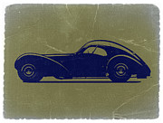 Old Cars Posters - Bugatti 57 S Atlantic Poster by Irina  March