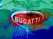 Racetrack Digital Art Posters - Bugatti Badge Poster by Irina  March