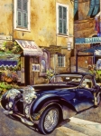 Mike Hill Art - Bugatti by Mike Hill