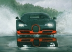 Expensive Painting Framed Prints - Bugatti Rain Framed Print by Patsy Fumetti  - SouthWest Design Studio