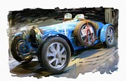 Rg Mcmahon Framed Prints - Bugatti Roadster Framed Print by RG McMahon