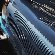 Kirkland Digital Art Prints - Bugatti Type 35 Louvered Print by Curt Johnson