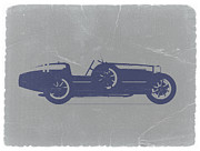Automotive Digital Art Metal Prints - BUGATTI Type 35 Metal Print by Irina  March
