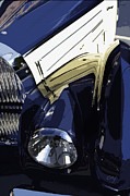 Kirkland Posters - Bugatti Type 57 Headlight Reflections Poster by Curt Johnson