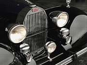 Kirkland Posters - Bugatti Type 57 Headlights and Grill Poster by Curt Johnson