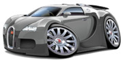 Pic Digital Art Posters - Bugatti Veyron in Grey Poster by Maddmax