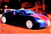Import Car Digital Art - Bugatti by Wingsdomain Art and Photography