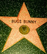 Bugs Bunny Framed Prints - Bugs Bunny Hollywood walk of fame stars Framed Print by Patrick Raffaelo