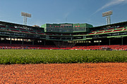 Boston Red Sox Framed Prints - Bugs Eye View From Center Field Framed Print by Paul Mangold