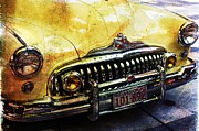 Pdx Art Museum Framed Prints - Buick Road Master Framed Print by Cathie Tyler