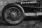 Indy Posters - Buick Shafer 8 BW Poster by Peter Chilelli