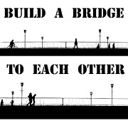 Bw Paintings - Build a bridge to each other by Stefan Kuhn