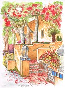 Ocre Paintings - Building-around-my-apartment-West-Hollywood-CA by Carlos G Groppa