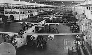 B-24 Framed Prints - Building Bombers, C.1941 Framed Print by Omikron