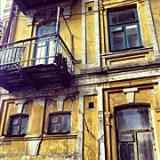 Scary Art - #building #downtown #old #scary #colors by Anastasia Mocandy