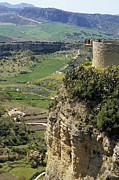Close To People Framed Prints - Building On Outcrop With Countryside Beyond, Ronda, Andalucia, Spain, Europe Framed Print by Roberto Gerometta