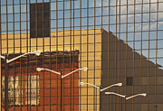 Office Space Metal Prints - Building Reflected in Glass Building Windows Metal Print by Thom Gourley/Flatbread Images, LLC