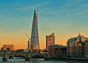 London Cityscape Posters - Building Shard Poster by Jasna Buncic