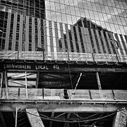 Financial  District Framed Prints - Building the American dream Framed Print by John Farnan