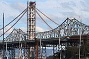 Oakland Bay Bridge Posters - Building The New San Francisco Oakland Bay Bridge . 7D7774 Poster by Wingsdomain Art and Photography
