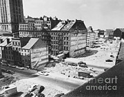 Urban Planning Prints - Buildings Demolished For Highway Print by Berenice Abbott