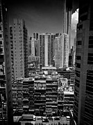 Hong Kong Prints - Buildings In Hong Kong Print by All rights reserved to C. K. Chan