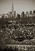 Headstones Metal Prints - Buildings Metal Print by RicardMN Photography