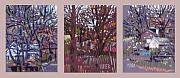 Neighbor Framed Prints - Buildings TripTych Framed Print by Donald Maier